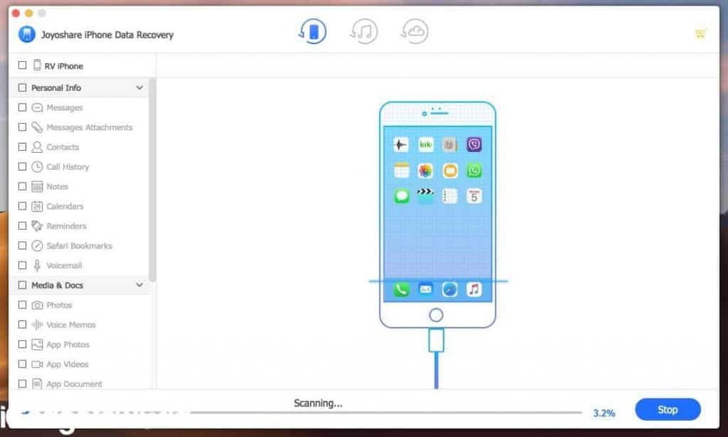 JoyoShare iPhone Data Recovery for Mac Review - 2