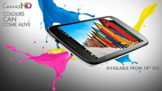 MicroMax A116 Canvas HD releasing to Indian market on feb 14 with a price of 14,999/- - 1
