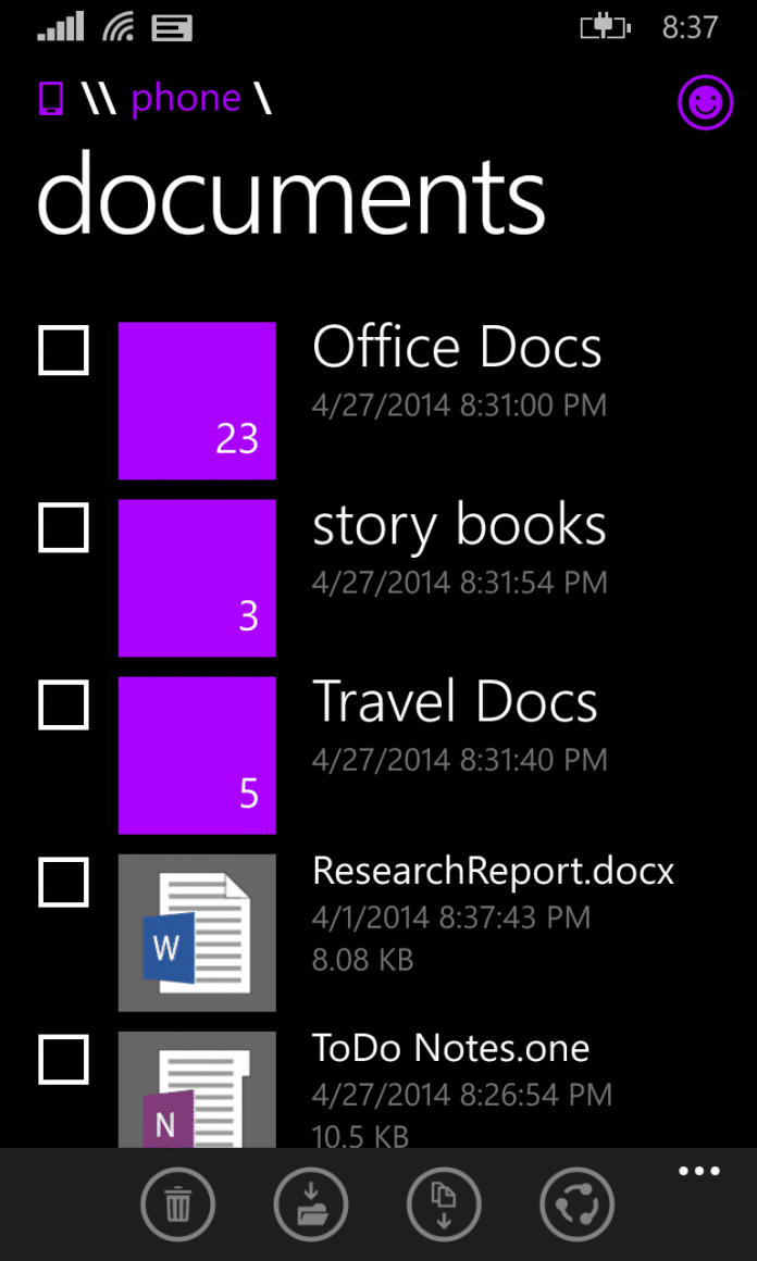 Official File Manager for Windows phone 8.1 announced - 2