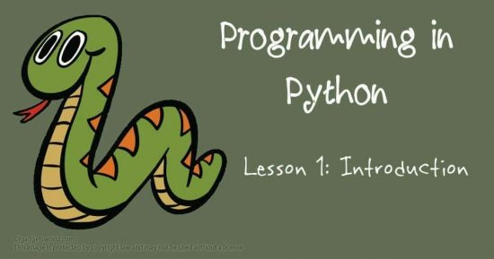 Programming in Python: Introduction - 1
