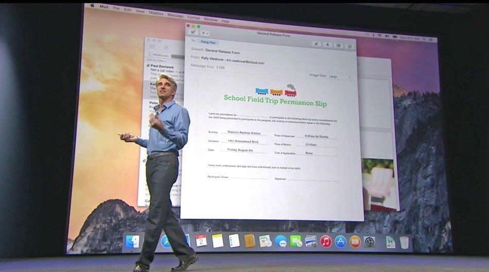MAC OS X 10.10 launch at WWDC
