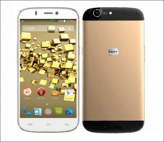 Micromax launches it's first flagship phone: Micromax Canvas Gold A 300 - 1