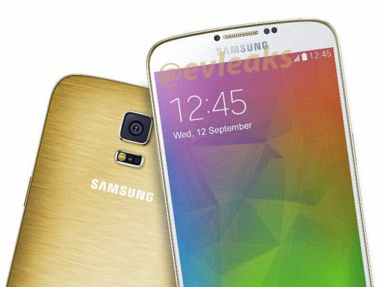 Press render of Samsung Galaxy F (S5 Prime) pic leaked -Perfect golden metal back - 1