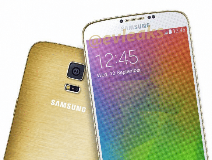 Press render of Samsung Galaxy F (S5 Prime) pic leaked -Perfect golden metal back - 2