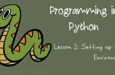 Programming in Python: Setting up the Environment - 3