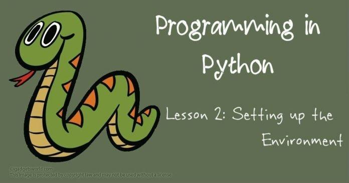 Programming in Python: Setting up the Environment - 2