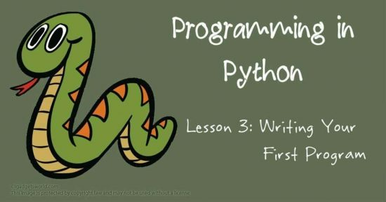 Programming in Python: Writing Your First Program - 1