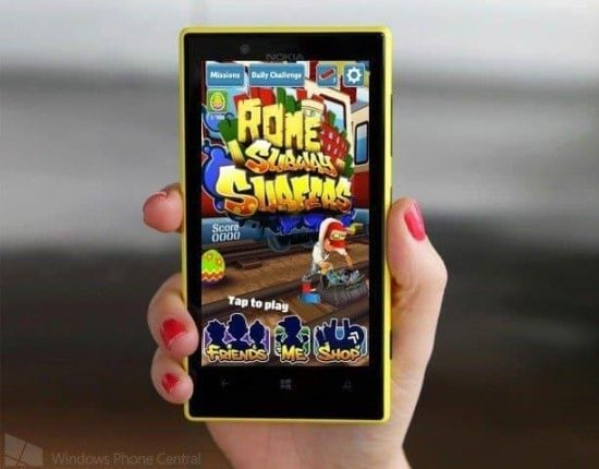 Subway Surfers: Now available on Windows Phones having 512 MB RAM - 1
