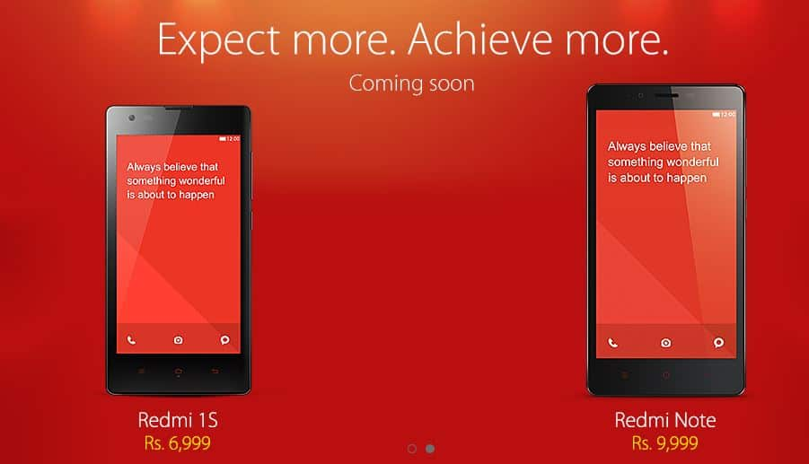 Buy Xiaomi Redmi note and Redmi 1s in india