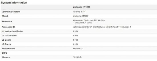 Moto X+1 specs leaked- spotted in GeekBench (Round up of rumors) - 1