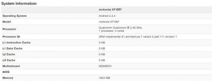 Moto X+1 specs leaked- spotted in GeekBench (Round up of rumors) - 2