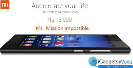 Make a confirm booking of Xiaomi Mi3, going for sale on August 26th from Flipkart - 1