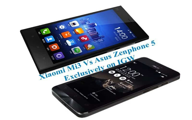 Xiaomi Mi3 Vs Asus Zenphone 5