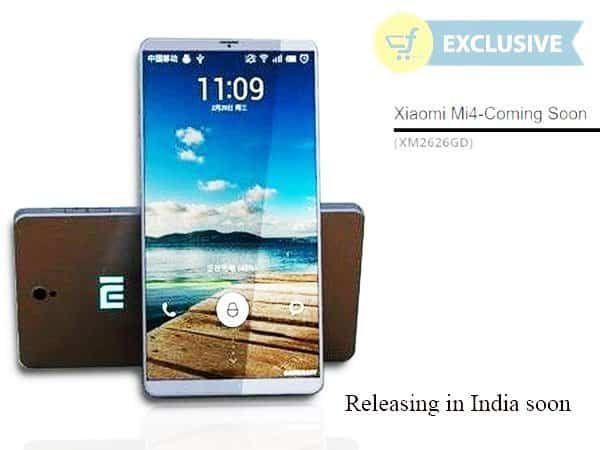 Xiaomi Mi4, releasing in India very soon, Through flipkart exclusive