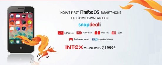 Intex Cloud FX -The most affordable FireFox OS smartphone hits Indian market via Snapdeal - 1