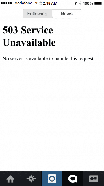 Instagram went down for most users - 1