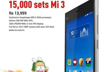 Xiaomi to put 15000 Mi3 handsets for sale this August - 2