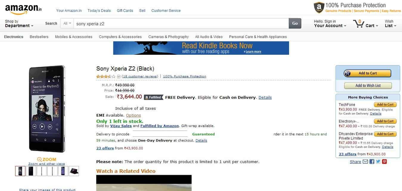 Pricing Error in Amazon. Igadgetsworld spot it.