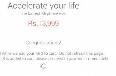 Bought Xiaomi Mi3 successfully on Aug 12th, Next sale on Aug 19th - 3