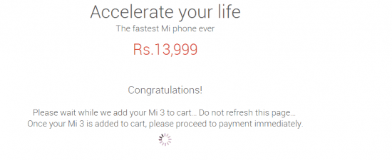 Bought Xiaomi Mi3 successfully on Aug 12th, Next sale on Aug 19th - 1