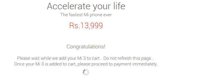 Bought Xiaomi Mi3 successfully on Aug 12th, Next sale on Aug 19th - 2