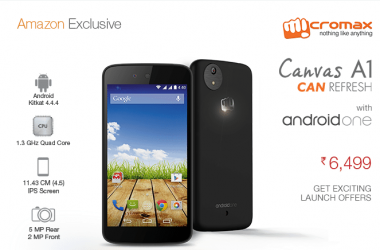 Android One: Micromax launches Canvas A1 exclusively at Amazon - 3