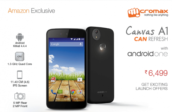 Android One: Micromax launches Canvas A1 exclusively at Amazon - 1