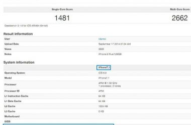 Apple iPhone 6,iPhone 6 plus benchmarks revealed by GeekBench - 2