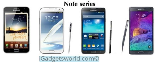 Samsung Note series at a glance [Infographic] - 1