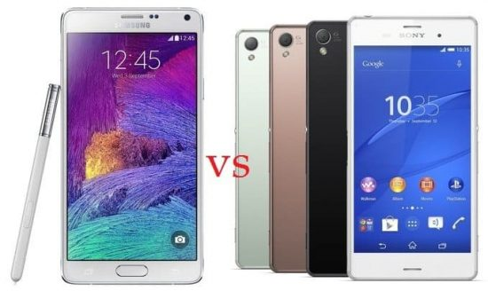 Samsung Galaxy Note 4 vs Sony Xperia Z3 : which Smartphone to choose? - 1