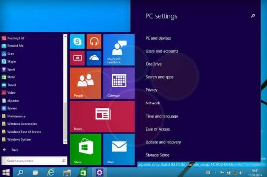 """Windows 9 build """"9834"""" Technical preview screenshots leaked - 1"""