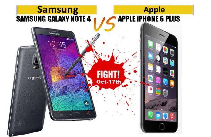 Oct 17th: Battle of two Phablets in India - Galaxy Note 4 vs iPhone 6 Plus - 2