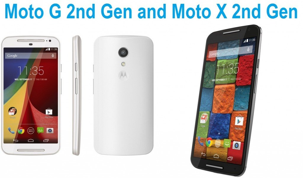 Moto G 2nd Gen and Moto X 2nd Gen