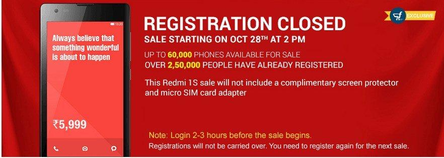 redmi-1s-9th-sale-60k-units-oct-28th-flipkart