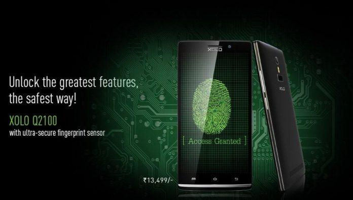 Xolo Q2100 with fingerprint scanner launched in India at Rs. 13499 - 2