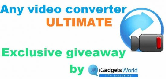 Giveaway: Any Video Converter Ultimate, from iGadgetsworld - 1