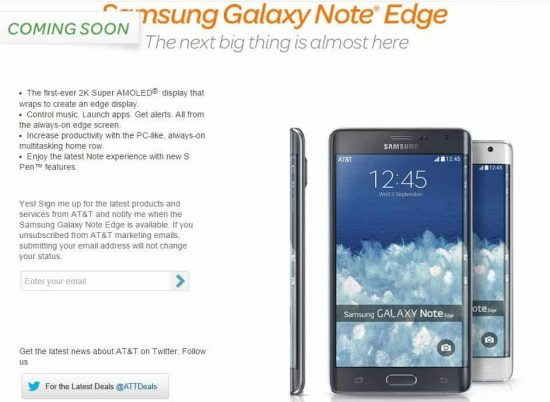 Samsung Galaxy Note Edge arriving to US from Nov 7th onwards says AT&T - 1