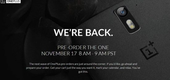 Get Ready! OnePlus One's second pre-order is set to go live on November 17. - 1