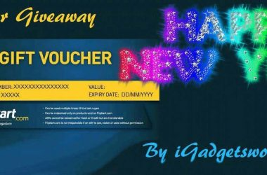 New Year Giveaway: Flipkart Gift Voucher, from iGadgetsworld [ENDED] - 2