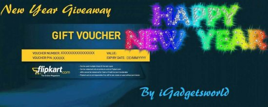 New Year Giveaway: Flipkart Gift Voucher, from iGadgetsworld [ENDED] - 1
