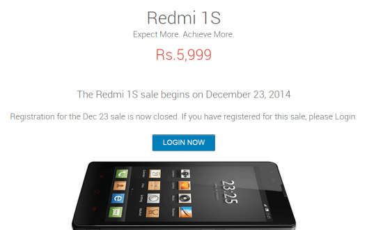Xiaomi Redmi 1s sale today after ban lifted on Xiaomi in India - 1