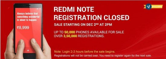 Xiaomi Redmi Note first flash sale today (Dec 2nd) are you ready ? - 1