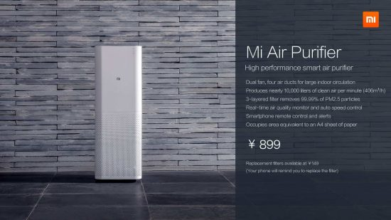 Xiaomi unveiled Air purifier in pre-CES event in China today - 1
