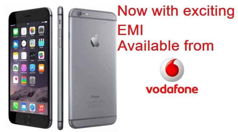 Vodafone offering iPhone with great EMI options
