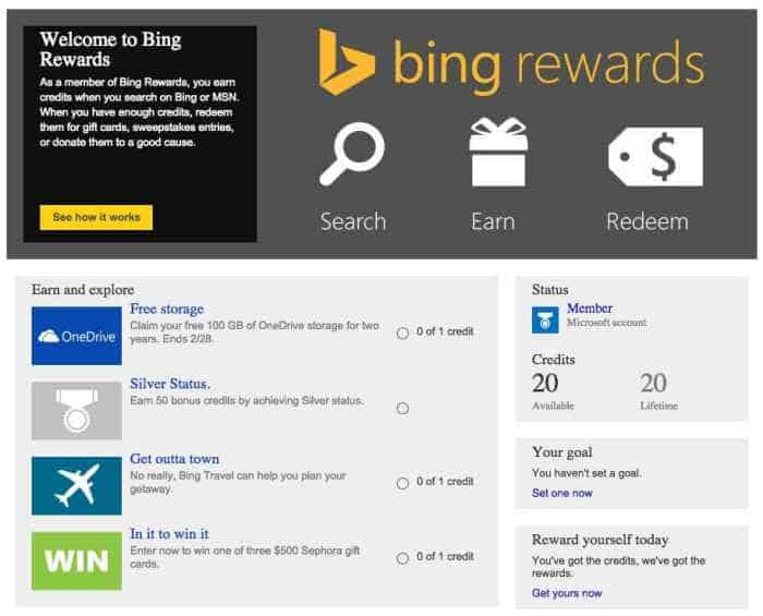 Get 100GB OneDrive storage for free when you sign up for Bing Rewards - 2