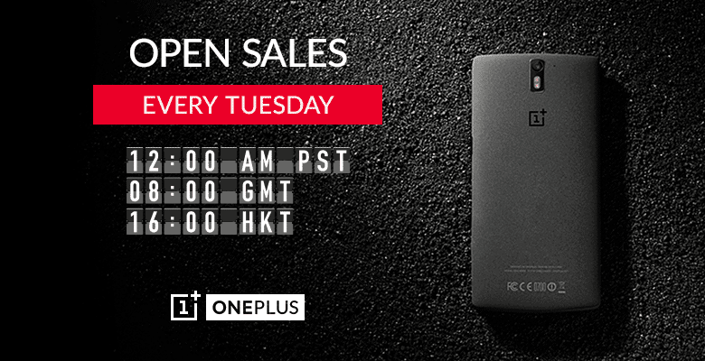OnePlus One Open Sales on every Tuesday [for Global users] - 2