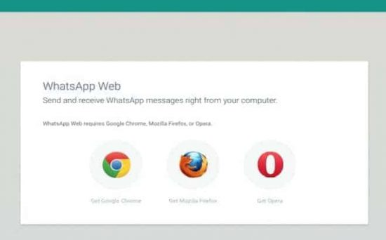 WhatsApp web-client is now available on Firefox and Opera too - 1