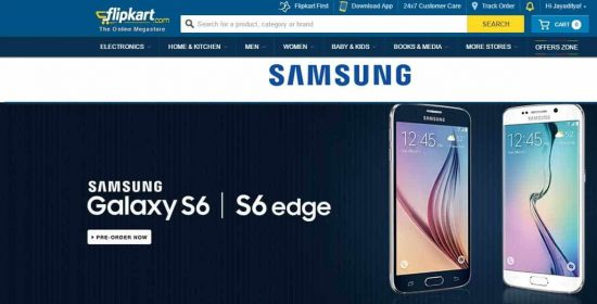 Samsung Galaxy S6 and Galaxy S6 Edge goes for pre-order on Flipkart - 1
