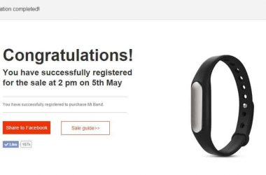 Register now to grab Mi Band for Re. 1 on May 5th - 2