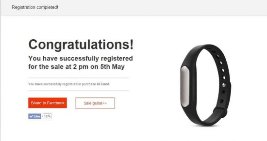 Register now to grab Mi Band for Re. 1 on May 5th - 1
